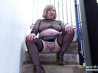 Video round extremely domineer mature plus her horny masturbation captured